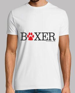 boxer fußabdruck - schwarz