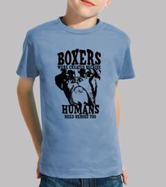Boxer humans heroes camiseta niño