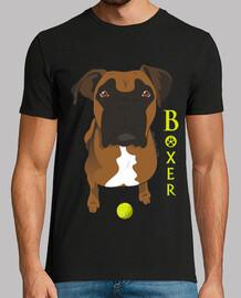 boxer mit ball