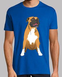 Boxer perro sentado