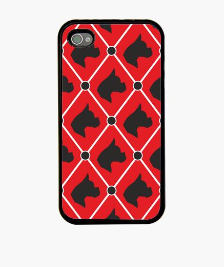 Coque iPhone boxeur imprimé - rouge
