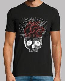 boy skull heart shirt