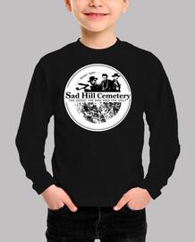 boy t shirt long manga sad hill logo