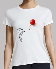 Boy with a balloon grape