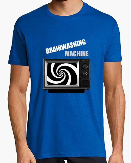 T-shirt brainwashing_machine blu uomo