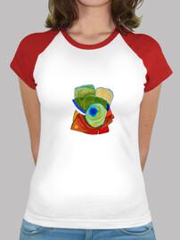 BrainyDesigns Flower Camiseta Chica
