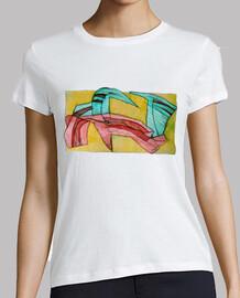 BrainyDesigns Paradise Camiseta Chica