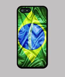 brasil soie drapeau.