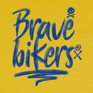 Camisetas Brave Bikers Brush Blue