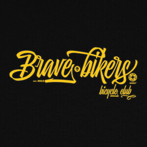 Camisetas Brave Bikers Script Yellow