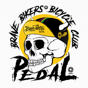 Camisetas Brave Bikers Skull Black