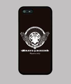brave bikers skull phone