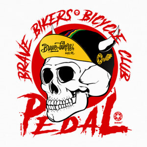 Camisetas Brave Bikers Skull Red