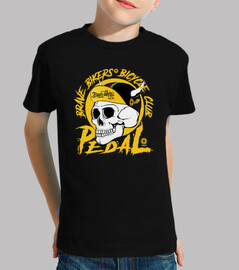 Brave Bikers Skull Yellow