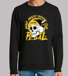 Brave Bikers Skull Yellow