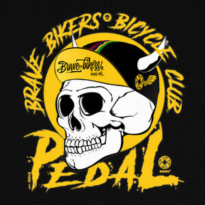 Camisetas Brave Bikers Skull Yellow