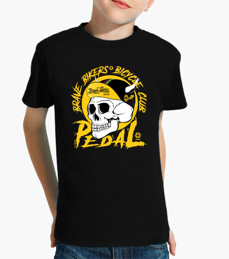 Brave bikers skull yellow kids clothes