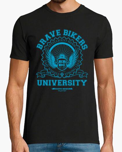 T-shirt brave bikers university