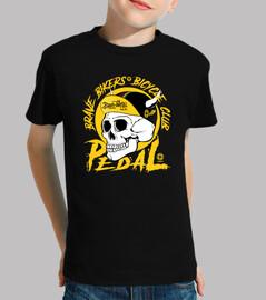 brave ciclisti skull giallo