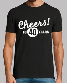 Bravo à l39anniversaire de 40 ans