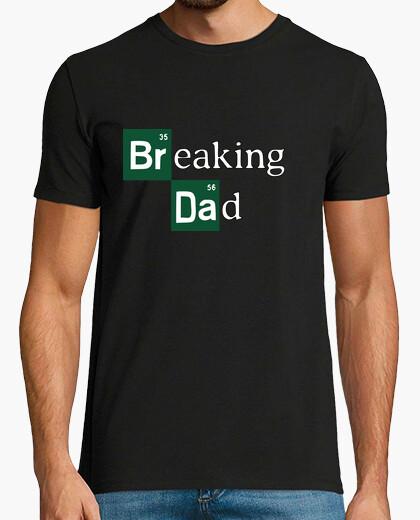 Tee-shirt breaking dad pommes de terre choix texte vert tb disponible