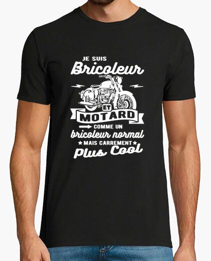 Tee-shirt bricoleur et motard humour