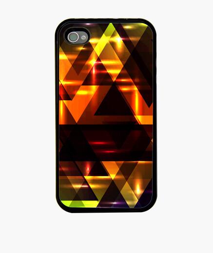 Funda iPhone Brillantes triángulos brillantes.