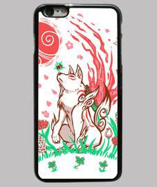 brise de fleur de loup - cas de téléphone