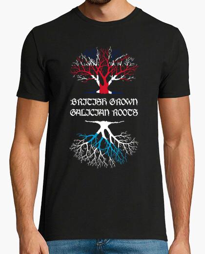 Camiseta British grown, Galician roots hombre