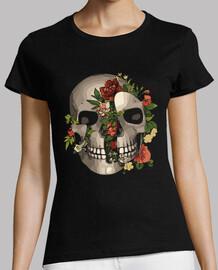 broken skull with flowers