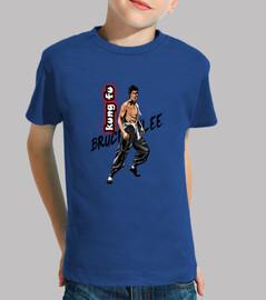 Bruce Lee kung fu. Camiseta personalizada de manga larga niños