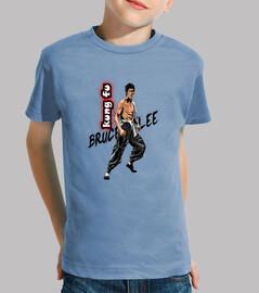 Bruce Lee kung fu. Camiseta personalizada para niños