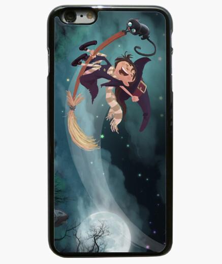 Funda iPhone 6 Plus / 6S Plus bruja volando ilustracion