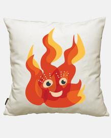brûler feu flamme heureux character