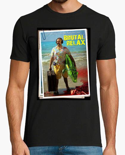 Brutal relax man, short sleeve, black, extra quality t-shirt