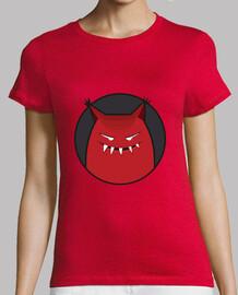 böses grinsendes monster mit spitzem ohren-t-shirt