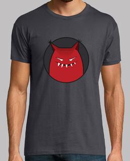 böses grinsendes monster mit spitzem ohren t-shirt