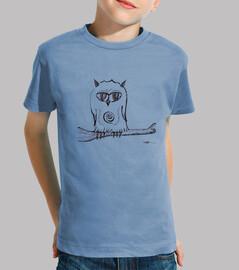 búho posado camisa de niño