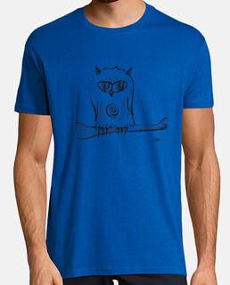 búho posado camisa del hombre