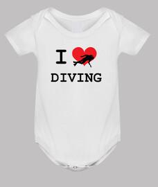 buceo cuerpo del bebé, blanco