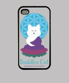Buddha Cat  iPhone 4 lila