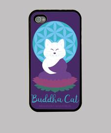 Buddha Cat  iPhone 4 violeta
