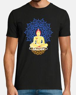 buddha colors buddista bandiera uomo
