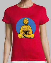 Buddha con una blu
