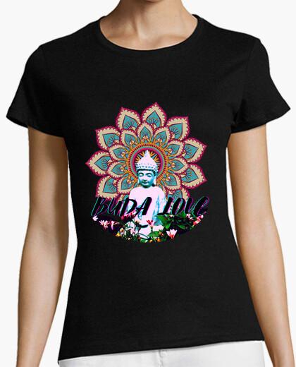 Buddha love and mandala woman t-shirt