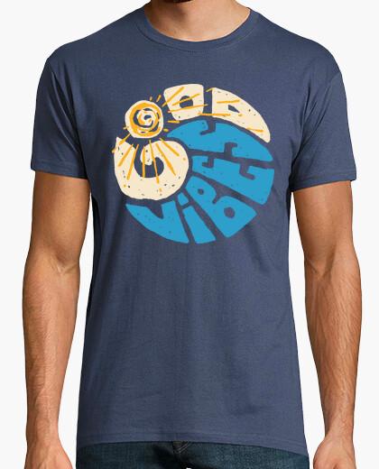 Camiseta buen rollo onda tipográfico