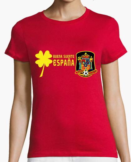Camiseta Buena Suerte España! Pecho