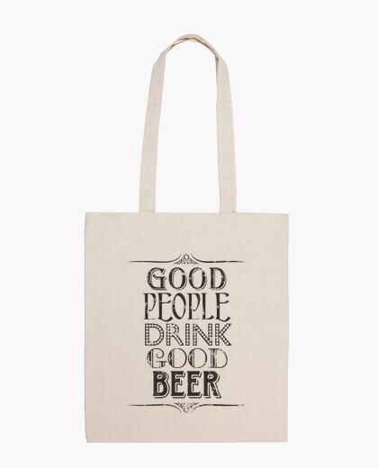 Bolsa buenas personas beben buena cerveza
