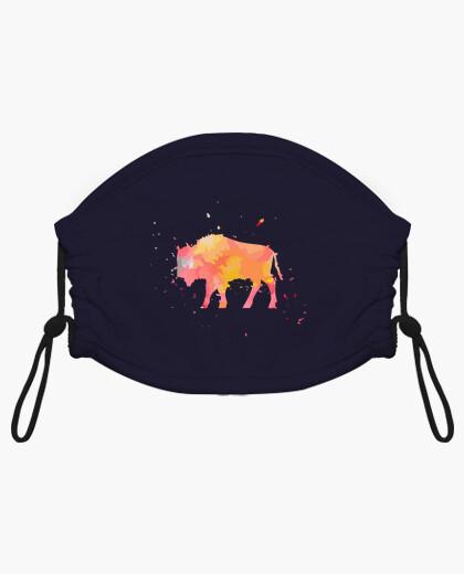 Mascarilla niño búfalo bisonte -...