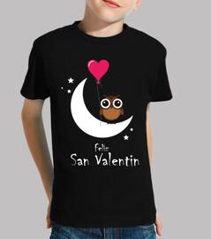 Buho Luna Feliz San Valentin